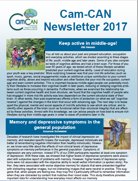 Cam-CAN Newsletter 2017